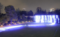 Illuminations of the Milky Way at Tokyo midtown (sapphire_rouge) Tags:   japanese  roppongi japan tokyo  midtown illumination darkness  cascade   milkyway