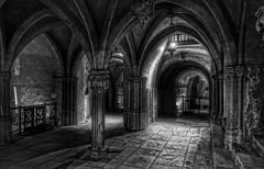 Church of St-Sernin crypt-Toulouse-France (Westhamwolf) Tags: church stsernin crypt toulouse france christianity black white monochrome arch vault building column