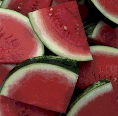 Closeup of Watermelon Slices (Posterized Photo) (randubnick) Tags: art photograph photography watermelon painter posterized