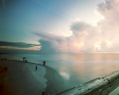 Day Meets Night (Tony__K) Tags: pinhole jacksonville jax jaxbeach jacksonvillebeach pier sunrise velvia 50 slide e6 ondu ishootfilm film fuji