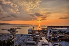 Porto di Ancona sunset (simone80an) Tags: sunset landscape seascape