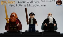 Godric Gryffindor, Harry Potter & Salazar Slytherin (Random_Panda) Tags: lego fig figs figures figure minifig minifigs minifigure minifigures characters character harry potter gryffindor slytherin