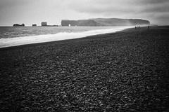 Vk  Mrdal, Iceland (unukorno) Tags: suurland island stones black blackwhite noise fog sea beach rocks
