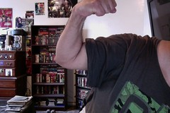 Bicep FLEX 5 (Jonathan C. Aguirre) Tags: biceps muscles flexing arms photobooth