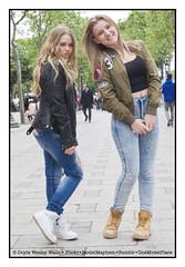 Britney and Shanna (Doyle Wesley Walls) Tags: sb bb 0008 women girls females beautiful beau pikny bonita hermosa guapa vacker smuk   kaunis bonito lindo frumos mooi schn skjnn fallegur bello  sexy sduisant seksowny seductor sexig sexet   seksiks retrato ritratto portrt portret photograph portrait feminine blonde rubia blondine  blondin  blondnka loira blond   blondynka face cara faccia fminin filleena mujer femme kobieta donna faces jeans denim jackets pretty lovely parisiennes longhair streetportraiture shanna britney doylewesleywalls
