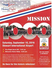 Hudson Valley friends - want to be part of Hudson Valley Honor Flight's Mission #1000? Well, it takes off on September 10, and you can be part of the send off and/or welcome home rally at Stewart Airport. See the details in the attached pic! (bcaccava) Tags: august 22 2016 0857am hudson valley friends want be part honor flights mission 1000 well it takes off september 10 you can send andor welcome home rally stewart airport see details attached pic