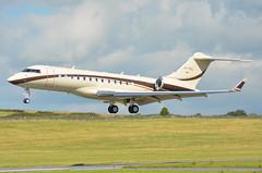 M-YOIL Bombardier Global 6000 EGNS 24/8/16 (David K- IOM Pics) Tags: m manx reg myoil bombardier bd700 glex global 6000 egns iom ronaldsway isleofman isle man airport