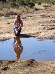 Natural mirror (Jorge Tarlea) Tags: mirror espejo reflection reflejo look mirar redhead pelirroja nature naturaleza africa frica southafrica sudfrica
