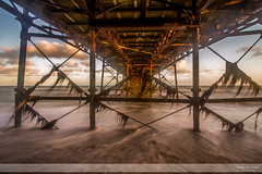 Flickr - Turbulence under the Pier (Nathan Dodsworth Photography) Tags: pier water ebbflow seasise worthing westsussex outdoors seascape contruction time horizon vanishpoint depth perspective angles light mood sky