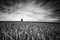 Layers (David Ball Landscape Photography) Tags: mono monochrome blackwhite blackandwhite longexposure landscape landscapes photography outdoors canon clouds cloudsstormssunsetssunrises cloudy sky fineart crop field chestertonwindmill windmill uk travel greatbritain 2016 davidballlandscapephotography superstopper leefilters