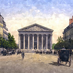 Digital Watercolor Painting of La Madeleine by Charles W. Bailey, Jr. thumbnail