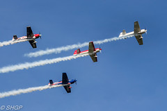 Global Stars Aerobatic Team - Old Warden Season Premiere Airshow 2016 (harrison-green) Tags: old warden season premiere airshow shuttleworth collection air display show aircraft aviation world war 2 fighter plane canon 700d sigma 150500mm lulu belle bell vehicle airplane outdoor red arrows raf roysl force magister ryan pt22 tiger moth blackburn b2 trainer biplane fiesler storch lysander westland t6 texan harvard hurricane hawker hind gloster gladiator jet autogyro gyrocopter helicopter bristol f2b one 1 letov lunak glider global stars aerobatic team
