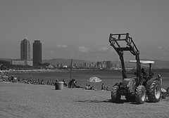 BCN beach (FMEGS) Tags: blackandwhite blanconegro bn beach sea spain summer water world wow white bw paysage noiretblanc nikon d3000 vintage contrast city barcelona urban flickr tamron