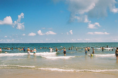 Very gorgeous day (andrewkatchen) Tags: asburypark newjersey jerseyshore beach ocean nikon film 35mm portra400 n6006