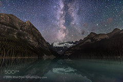 The Milky Way over Lake Louise #3 (PhoenixRoofing164) Tags: reflection stars night sky continental divide light pollution dark rocky mountains milky way banff national park lake louise aquila rockies victoria glacier altair scutum starcloud so double cluster banffnationalpark lakelouise milkyway rockymountains sodoublecluster victoriaglacier continentaldivide darksky lightpollution nightsky