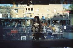 000001 (samica jones) Tags: bessa r4 film double exposure tungsten sydney australia urban nature ambiguous dreamy reflection camera shop window