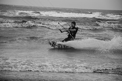 north sea (michelhiertz) Tags: sea windsurfing sport extrieur d3200 belgium nautique plage beach mer du nord de panne la