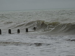 The sea (andyaldridge) Tags: beach breakwater groyne seaside waves westsussex worthing