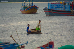 Basket Boat (langthangdaydo) Tags: basket boat boats boating rowing sea seascape coast ocean color colorful life living dailylife landscape summer water explorer fishing village beach sand boy outdoor lifestyle child children