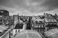 Sous les toits de Paris, B&W, 1 (Patrick.Raymond (2M views)) Tags: paris toits bw nikon concordians