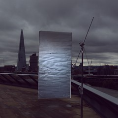@jared_lo_fi_eye (Jared Price) Tags:   k5600lighting light lighting lightingdepartment crew setlife bts london east shard cstand rooftop celotex bounce fill positive grey sky clouds heavy dark ominous instagram joker bug 800