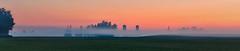 Peachy dawn on Sawmill Road (virgil martin) Tags: panorama sunrise dawn landscape farm mist fog morningmist conestogo stjacobs waterlooregion ontario canada olympusomdem5 oloneo microsoftice gimp