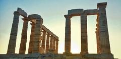 Pillars of Fire (odevee) Tags: sounion sounio temple greektemple greece pillars