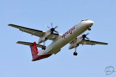 SpiceJet De Havilland Canada DHC-8-402Q Dash 8 VT-SUD (Dipalay) Tags: spicejet delhi delhiairport igiairport approaching q400 vtsud