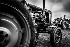 Fordson Tractor (aquanout) Tags: monochrome blackandwhite tractor farming agriculture engine wheels