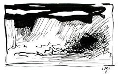 Wolfram Zimmer: Escape - Flucht (ein_quadratmeter) Tags: wolfram zimmer bilder kunst malerei zeichnung images foto photo fotos photos gemlde wolframzimmer konzeptkunst objektkunst meinzimmer freiburg burgbirkenhof kirchzarten ausstellung ausstellungen pinsel tusche ink dessin exhibition exhibitions drawing landschaft landscape improvisation