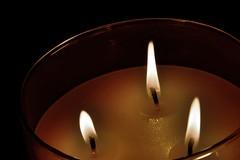 Let it burn (Melissa_JMH) Tags: candle light lit fire nikon nikond610 d610 oregon macro careful burn 3wick 3 threewick three flame flames glass jar wax hot melt melting beautiful photography macrophotography fx
