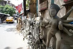 Kolkata (Rajesh_India) Tags: india west religious god kali religion goddess idol ritual indians utsav kolkata bengal calcutta durga 2012 durgapuja godess bengali ghat westbengal bangali kumartuli kumartoli kumortuli