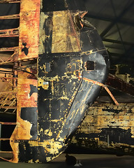 _DSC6261 Anx2 1024h Q90 (edk7) Tags: uk england london museum plane d50 airplane aircraft aviation military tail ruin piston halifax wreck damaged heavy bomber derelict raf 2007 recovered hendon stabilizer fourengine handleypagehalifaxii edk7