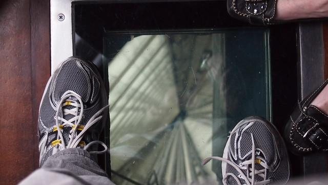 CN Tower Glass Floor in Elevator