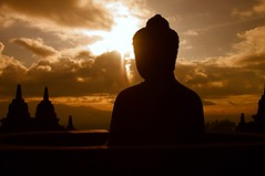 Borobadur At Dawn, Indonesia (El-Branden Brazil) Tags: indonesia asian java asia buddha religion buddhism mystical spirituality indonesian javanese