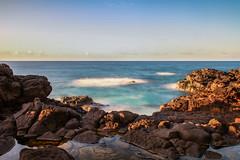 Waiting For The Sunset (rslhc) Tags: ocean longexposure sunset water canon eos hawaii still rocks paradise horizon 7d kauai stirring ndfilter gradenisland