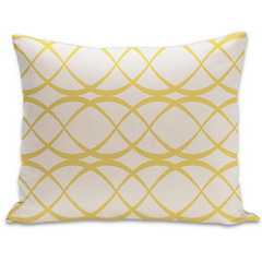 Dune Organic Pillow in Bright Yellow and Natural 15x18 (PURE Inspired Design) Tags: customfurniture organicfabric ecofriendlyfurniture woolrugs