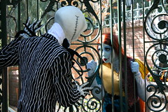 Jack and Sally (snow1937white) Tags: halloween disneyland disney sally jackskellington nightmarebeforechristmas jackandsally thenightmarebeforechristmas disneylandresort facecharacter facecharacters
