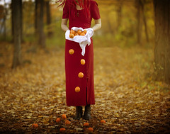 Orange issues (Patty Maher) Tags: red woman selfportrait composite rules oranges texturebyskeletalmess meagainmonday