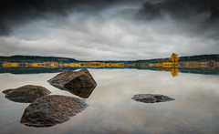 Autumn Landscape (Tore Thiis Fjeld) Tags: autumn light sky lake reflection nature colors oslo norway clouds nikon d800 maridalen watersurface maridalsvannet