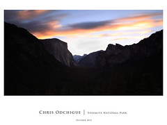 Tunnel view @ dusk (Chris Odchigue | Photography) Tags: park sunset mamiya sunrise canon river point eos dawn view adams dusk mark merced tunnel el glacier ii valley yosemite dome half 5d mf usm np ef ansel capitan 2470mm 28l 645afd
