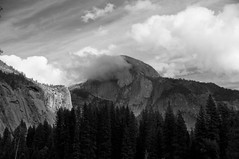 Storm Clouds at Half Dome (gcquinn) Tags: california blackandwhite bw usa storm clouds geoff yosemite quinn halfdome geoffrey clearingstorm
