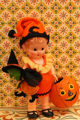 Trick or Treat (raining rita) Tags: halloween handmade witch jackolantern vintagestyle knickerbocker