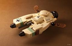 Pkf.85 Falke (_Tiler) Tags: lego aircraft mini vehicle speeder mak moc falke maschinenkrieger hoovercraft miniscale pkf85falke