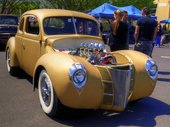 1940 Ford hot rod (54 Ford Customline) Tags: ford 1940 40 carshow hotrods customs channeled 40ford fordhotrod leadsleds sandownraceway 1940forddeluxe kustomsofaustralia johnsrodcustompicnic