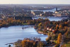 Stockholm (szefi) Tags: autumn panorama fall view sweden stockholm aerial vista sverige kaknstornet arial