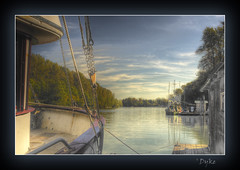 Troller and float (1withone) Tags: water fishingboat photoart fraserriver hdr commercialboat trollerfishingboat