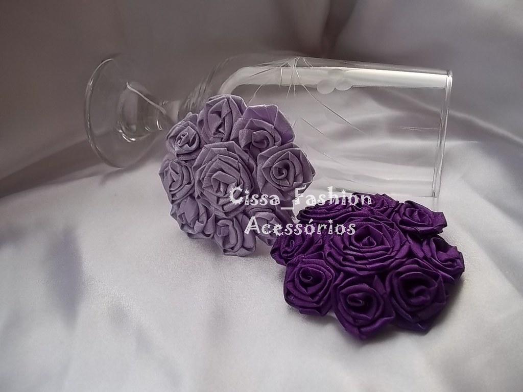 Flores (Cissa Fashion) Tags  tiara flores flor rosa fuxico arco cabelo  tecido cetim faixa 21b9a48d710