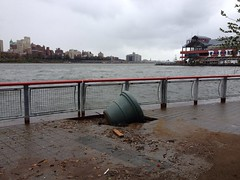 Miscellaneous Damage on the East River Promenade (jabbex) Tags: nyc newyork water flooding chinatown sandy hurricane disaster eastriver damage seaport frankenstorm hurricanesandy frankenstormsandy