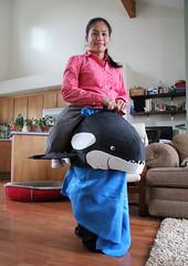 Stella's Halloween Orca (pkingDesign) Tags: halloween costume cardboard killer whale orca wearable